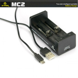 XTAR MC2 18650 14500 26650 Battery Micro USB Smart Charger