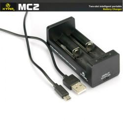 XTAR MC2 18650 14500 26650 Batteri Micro USB Smart Charger