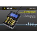 XTAR VC4 LCD-skärm USB Batteriladdare för 18650 26650 14500 Batteri Ficklampor