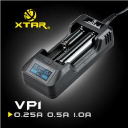 XTAR VP1 LCD 2 Slots Intelligent Li-Ion Batteriladdare