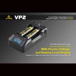 XTAR VP2 Laddare med LED-display för 18650 16340 Li-ion Batteri Ficklampor