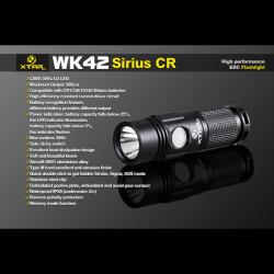 XTAR WK42 Sirius CR CREE XM L U2 300LM 7 Mode EDC LED Taschenlampe