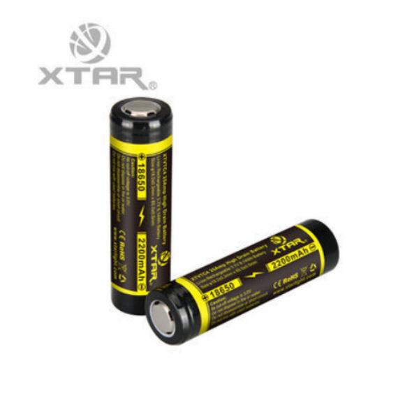 XTAR XTVTC4 25A High Drain 2200mAh IMR Rechargeable 18650 Battery Flashlight
