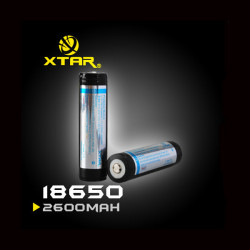 Xtar 18650 2600mAh 3.7V Li-Ion Protected Rechargeable Battery