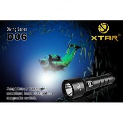 Xtar D06 CREE XM-L U2 820 Lumen 100m Dykning LED Ficklampa 1 * 18650