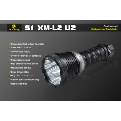 Xtar S1 3x CREE XM-L2 U2 2500 lm Search and Rescue LED Flashlight