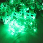 100 LED 10m Green String Decoration Light For Christmas 110V 220V Holiday Lights