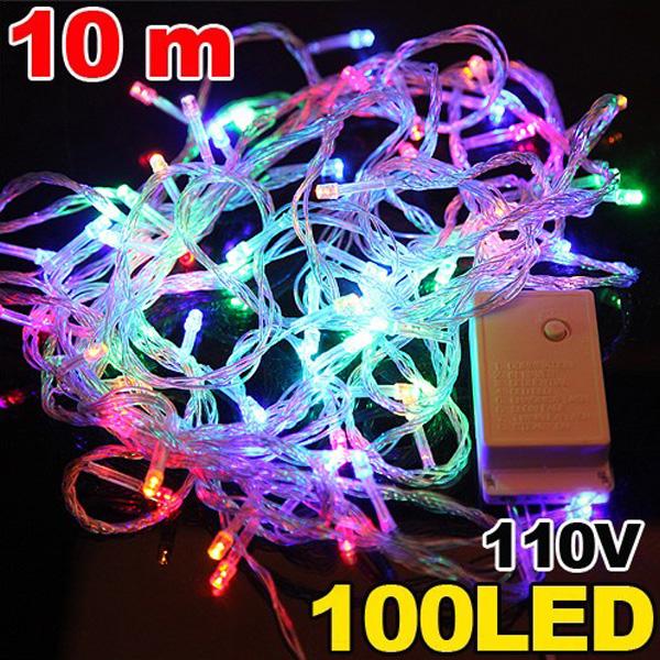 100 LED 10m Multicolour String Decoration Light for Christmas 110v