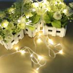 100 LED 10m warme weiße Schnur Dekoration Licht für Weihnachts