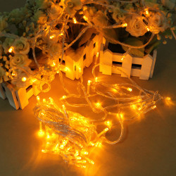 100 LED 10m Yellow String Dekoration Light For Christmas 110V 220V
