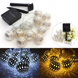 10 LED 3 Meter Solar String Lantern ljus Fairy Christmas Ball Lamp