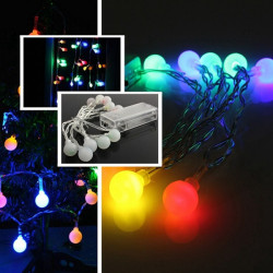 10 LED Batteridrivna färgglada Ball String Fairy ljus Party Xmas bröllop