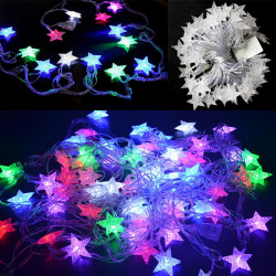 10M LED Stars Light String Christmas Wedding Curtain Decoration Lamp