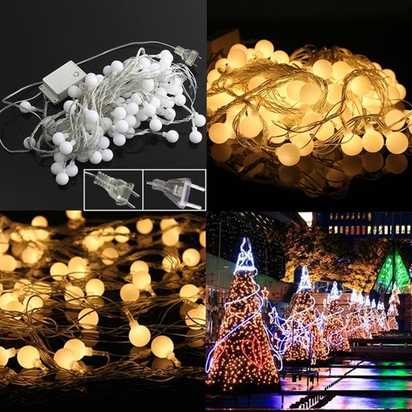 10m Warm White 100LED Kugel Fee Schnur Licht für Hochzeitsfest Weihnachten Festliche Beleuchtung