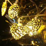 10 pcs Heart LED Fairy String Light Garden Home Christmas Decoration Holiday Lights