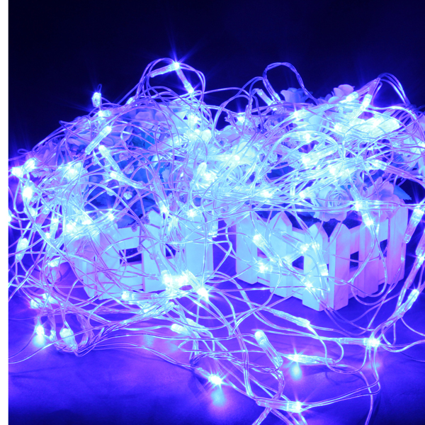120 Blue LED Web Net Fairy Waterproof Light For Christmas Garden Holiday Lights