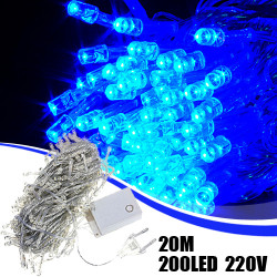 200 LED 20m String Dekoration Lys for Holiday Party Bryllup 220V