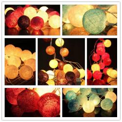 20 Cotton Ball Fairy Slinga Belysning Party Holiday Wedding Decor