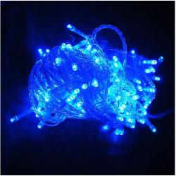 220V 500LED 50m Blå Slinga Dekoration Ljus för Julfest