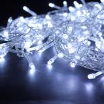 224 LED Hvid Gardin Fe Vandtæt String Lys Dekoration Julebelysning