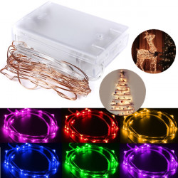 2M 20 LED Copper Wire Starry Lys String Fe Batteridrevne Decor