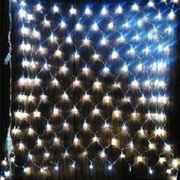 2M X 3M Vit 200 LED Web Net Fairy Ljus Jul Garden Julbelysning