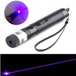 301 405nm 5mw Purple Light Adjustable Focus Laser Pointer+Keys Lasers