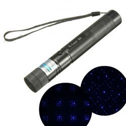 303 405nm Purple Lys High Power Justerbar Laser Pointer Laserpenne + Keys