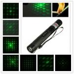 303 8Patterns 523nm Adjustable Green Laser Pointer+Keys Lasers