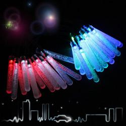 30LED Colorful Solar Bubble-Bar String Light Christmas Garden Decor