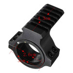 30mm Ring Scope Flashlight Laser Tube Picatinny Rail Mount Adapter Lasers