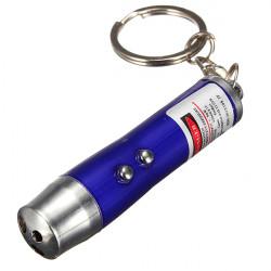 3 in 1 Mini Red Ray Laser Schlüsselanhänger Validate Funktion (3xLR44)