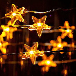 3M Copper Wire Star Shape Christmas Decoration Fairy String Lights