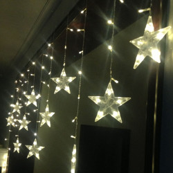 3M Width LED Stars Curtain String Christmas Wedding Decoration Light