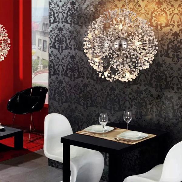 45*100cm K9 Crystal Ceiling Chandelier Pendant Light Lamp 110-240V Lighting Chandeliers