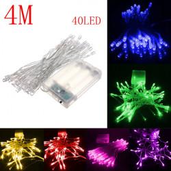 4M 40 LED Batteridrivna Jul Bröllopsfest Slinga Fairy Ljus