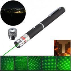 5-in-1 532nm Powerful Green Laser Pointer Pen +0.5mw Star Cap
