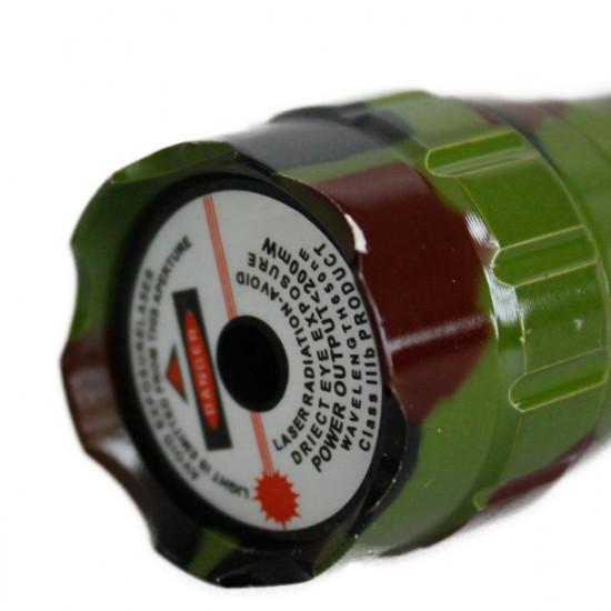 501B 405nm Ficklampa Formad Purple Laserpekare 5mW (1 * 16340) 2021