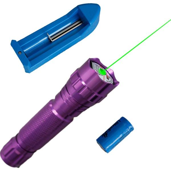501B 532nm Lommelygte Formet Grøn Laser Pointer Laserpenne Suit 5mw (1 * 16340) Laserpointers