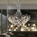 50*80cm K9 Crystal Ceiling Chandelier Pendant Light Lamp 110-240V Lighting Chandeliers