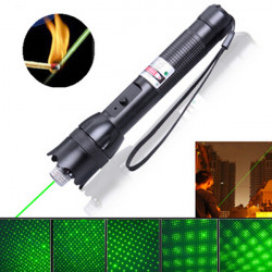 532nm 5mW 2000M Justerbart Focus Grøn Burning Laser Pointer Laserpenne
