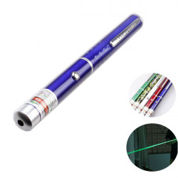 532nm Single Green Laser Pointer Pen 1mw/5mw 2xAAA 5-Color