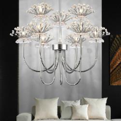53*65cm K9 Crystal Ceiling Chandelier Pendant Light Lamp 110-240V