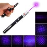 5mW 405nm Lilla Lys Laser Pointer Laserpenne Pen Med Stjerne Cap Hoved Laserpointers