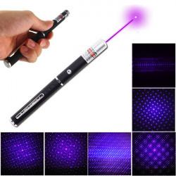 5mW 405nm Purple Ljus Laserpekare Penna med Star Cap Head