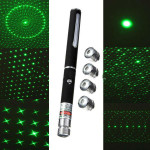 6-I-1 Mønstre 532nm High Power Grøn Laser Pointer Laserpenne Pen Laserpointers