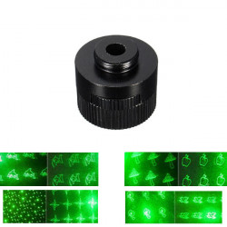8 Style Pattern Laser Pointer Head Converter Light Cap