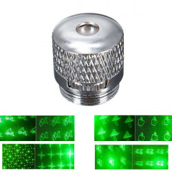 8 Style Pattern Laser Pointer Head Converter Light Cap Silver