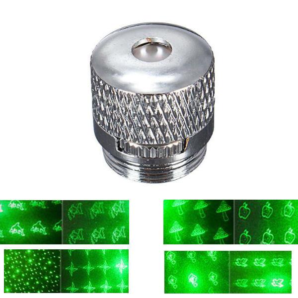 8 Style Pattern Laser Pointer Laserpenne Hoved Konverter Lys Cap Sølv Laserpointers