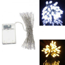 AA Battery Mini 10 LEDs Cool/Warm White Christmas String Fairy Lights